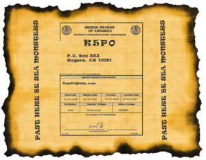 Old World style on parchment paper ham radio license